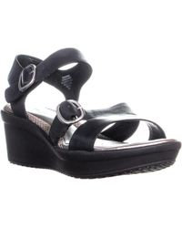 dcd29d65a6f Easy Spirit - Charisma Ankle Strap Comfort Wedge Sandals - Lyst