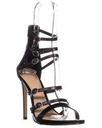 6b653ed2742 Aldo Olivarra Platform Ankle Strap Sandals in Black - Lyst