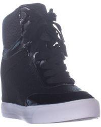 214fa05d8f4 Lyst - Guess Dustyn Hidden-wedge Fashion Sneakers
