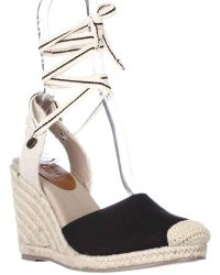 Roxy - Bolsa Wedge Espadrille Lace Up Court Shoes - Lyst