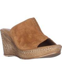 Bella Vita - Dax-italy Wedge Slide Sandals - Lyst