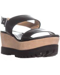 7ba6185fe2063 Michael Kors - Michael Gillian Mid Wedge Platform Sandals - Lyst