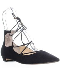 Sigerson Morrison Wynne Lace Up Wedge Court Shoes - Black