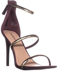 8dc7a5bc2ef Lyst - Bebe Francis Platform Sandals in Metallic