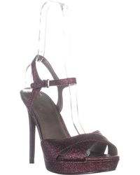 Guess Platform Ankle Strap Sandals - Purple