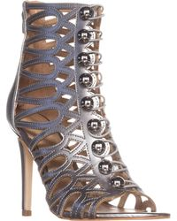 Guess Gues Perlina2 Gladiator Ankle Booties - Metallic