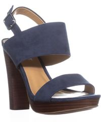 Report Lawren Platform Slingback Sandals - Blue