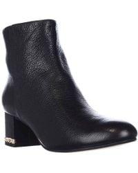 13353c73e991 Lyst - Michael Kors Michael Ailee High Heel Platform Shooties in Black