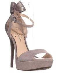 Jessica Simpson - Baani Sparkle Bow Heel Dress Platform Court Shoes - Lyst