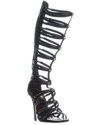 Madden Girl Brazen Knee High Gladiator Sandals - Black