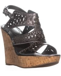 Guess Vannora Wedge Ankle Strap Wedge Heels - Multicolour