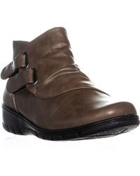 Easy Street Frany Ankle Boots - Brown