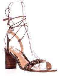Lauren by Ralph Lauren - Helaine Lace Up Tassel Sandals - Lyst