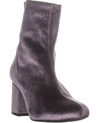 Free People Cecile Block Heel Ankle Boots - Gray