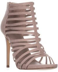 Madden Girl Lexxx Heeled Strappy Sandals - Brown