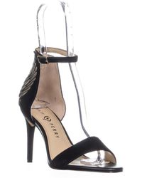 Katy Perry The Alexann Heel Covered Ankle Strap Sandals - Black