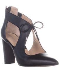 Adrienne Vittadini Nigel Pointed Toe Zipper Heels - Black
