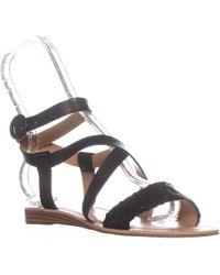 Franco Sarto - Georgetta Flat Ankle-strap Sandals - Lyst