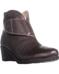 Jambu Perla Wedge Ankle Boots - Brown