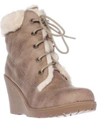 Mojo Moxy - Dolce By Fresco Wedge Ankle Boot Booties - Lyst
