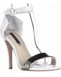 Alice + Olivia - Alice And Olivia By Stacey Bendet Gala Ankle Strap Dress Sandals - White/pale Gold - Lyst