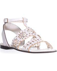 Furla - Frula Aurora T-strap Flat Sandals - Lyst