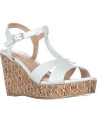 Callisto Aspenn T-strap Wedge Sandals - White