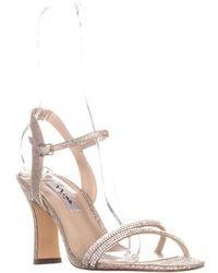 bd834b517 Nina - Avalon Ankle Strap Slim Sandals - Lyst