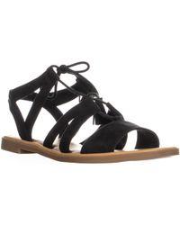 Dr. Scholls - Encourage Lace Up Flat Sandals - Lyst