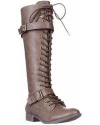 Rocket Dog Beany Lace-up Knee High Boots - Brown