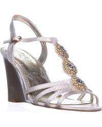 Adrianna Papell - Kristen Wedge Dress Sandals - Lyst