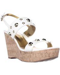 Ivanka Trump - Gitty Platform Studded Wedge Sandals - Lyst