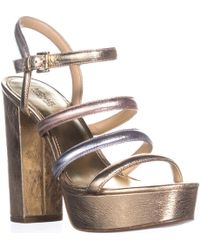 595a8e622bc Lyst - Michael Kors Woman s Meadow Platform Sandals in Brown