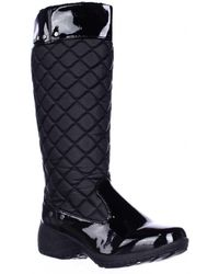 Khombu - Merritt Quilted Soft Lined Winter Rain Boots - Lyst
