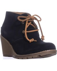 Sperry Top-Sider - Celeste Prow Wedge Booties - Lyst