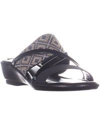Bella Vita Palazzo Slip On Sandals - Black