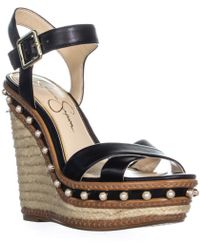 45c7d198633 Jessica Simpson - Aeralin Wedge Slingback Sandals - Lyst