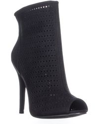 Chinese Laundry - Jupiter Perforated Peep Toe Boots - Lyst
