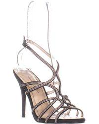 Caparros Helena Strappy Evening Sandals - Black