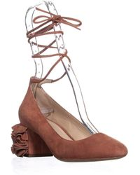 Loeffler Randall Clea Low-heel Ankle Strap Court Shoes - Brown