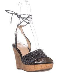 2d241590fa6bae Guess - Wedinna2 Peep Toe Casual Platform Sandals - Lyst