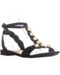 Marc Fisher - Elana T-strap Flat Sandals - Lyst