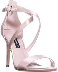 Nine West Mydebut Dress Heel Sandals - Natural