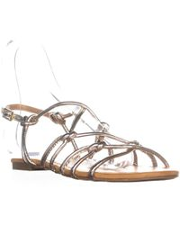 Report Gail Flat Knot Sandals - Metallic