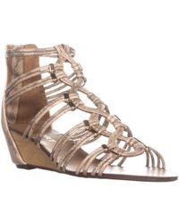 Report - Maple Wedge Zip Up Sandals - Lyst