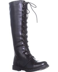 Dirty Laundry - Roset Knee High Lace Up Boots - Lyst