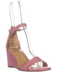 Naturalizer London Ankle Strap Wedge Sandals - Pink