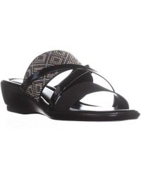 Easy Street - Palazzo Slip On Strappy Sandals - Lyst