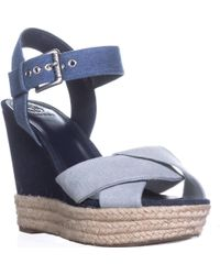 Guess - Sanda Ankle Strap Wedge Sandals - Lyst