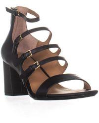 Calvin Klein - Caz Heeled Ankle Strap Sandals - Lyst